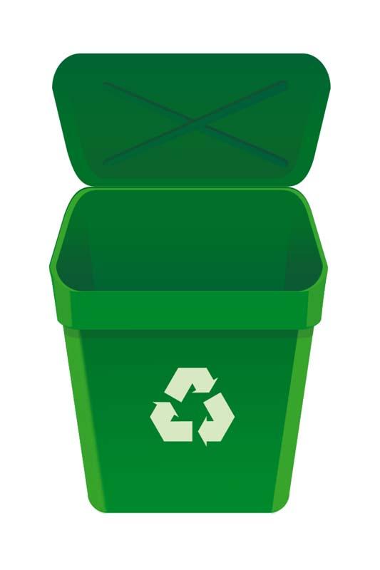 طرح کلیپ آرت سطل بازیافت زباله