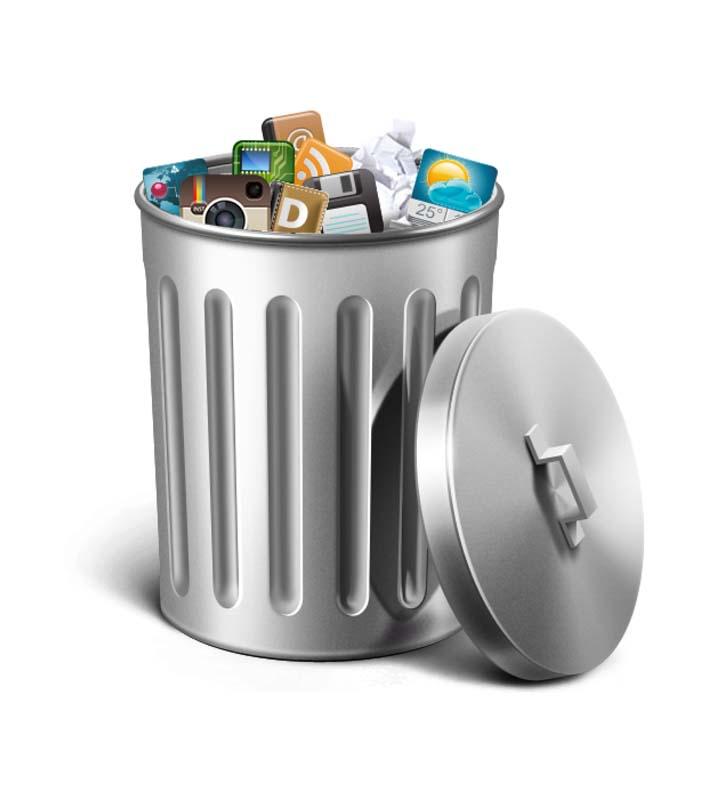 طرح کلیپ آرت سطل آشغال فلزی