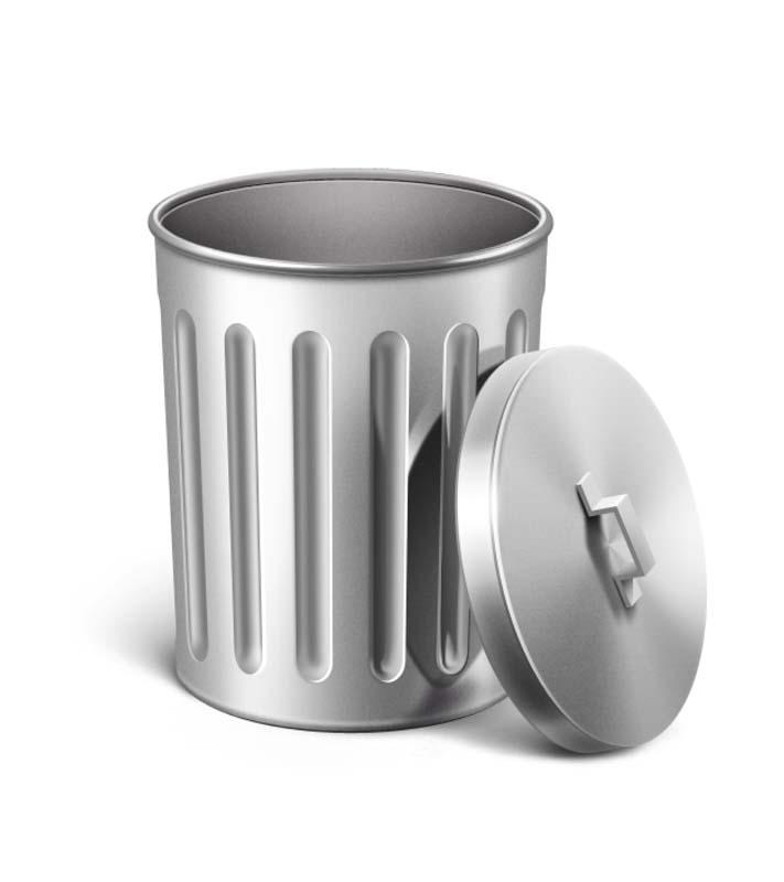دانلود طرح کلیپ آرت سطل آشغال فلزی