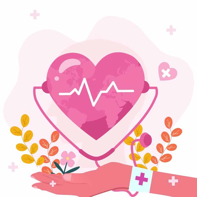 طرح کلیپ آرت باکیفیت متخصص قلب