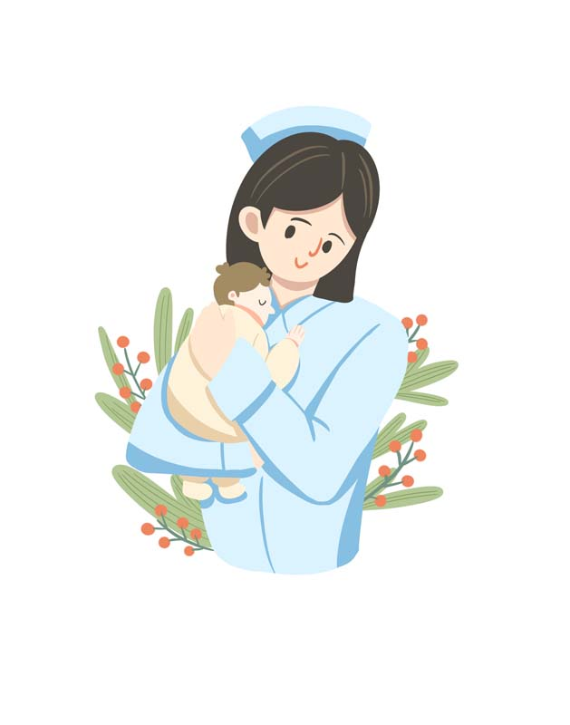 دانلود وکتور مفهومی با طرح پرستار و نوزاد