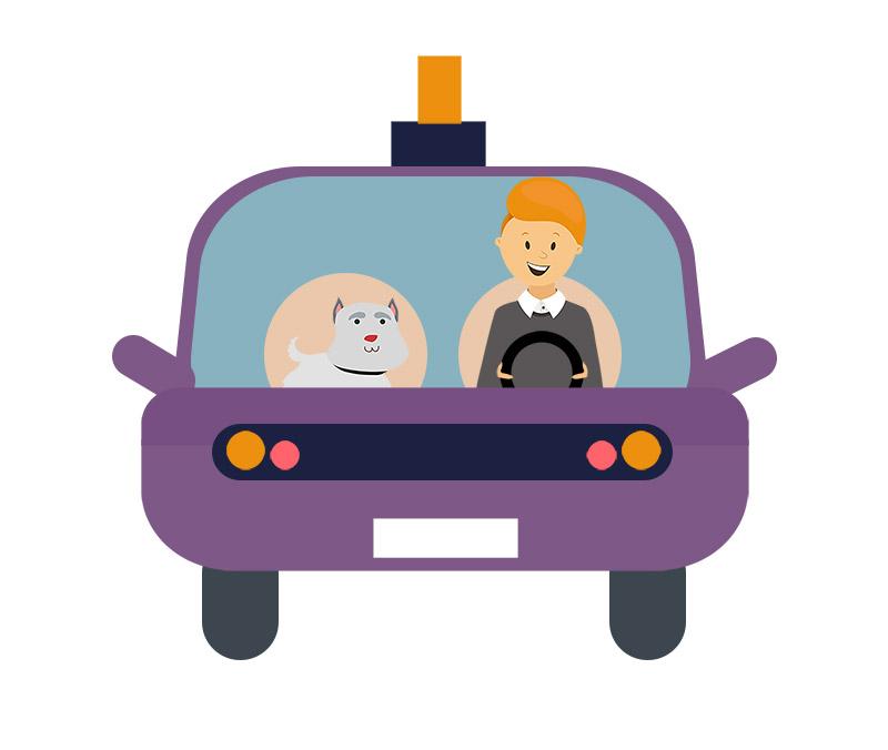 دانلود وکتور مفهومی لایه باز با طرح رانندگی