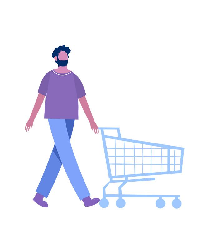 وکتور مفهومی گرافیکی با طرح خرید از فروشگاه