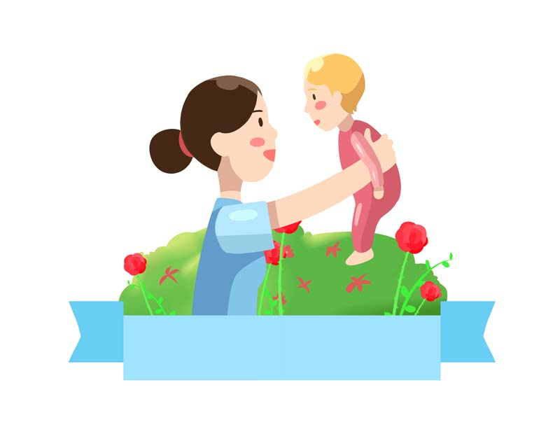 دانلود وکتور مفهومی گرافیکی با طرح مادر و کودک