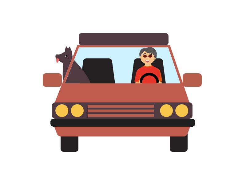دانلود وکتور مفهومی گرافیکی با طرح رانندگی