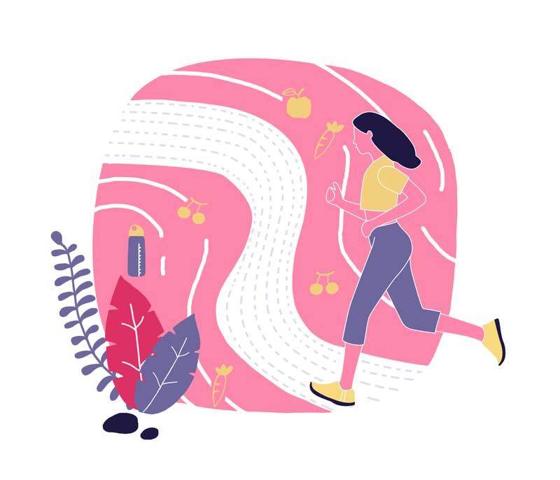 وکتور مفهومی باکیفیت با طرح دویدن