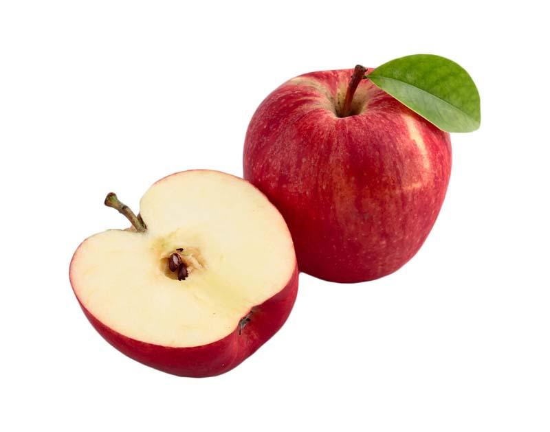 طرح سیب های قرمز از نمای بغل