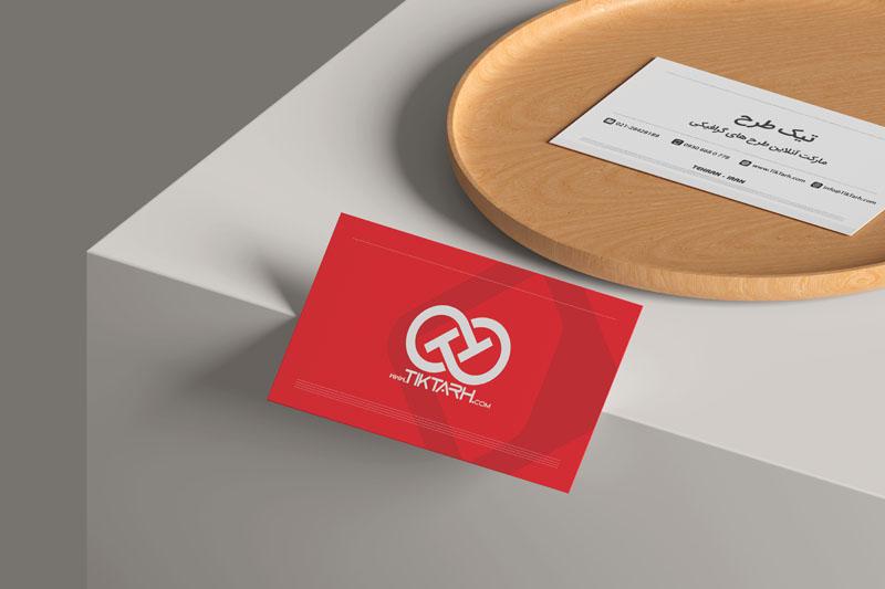 دانلود موکاپ کارت ویزیت روی میز