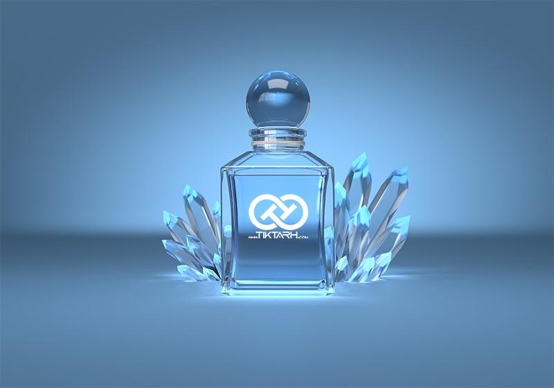 طرح موکاپ شیشه عطر