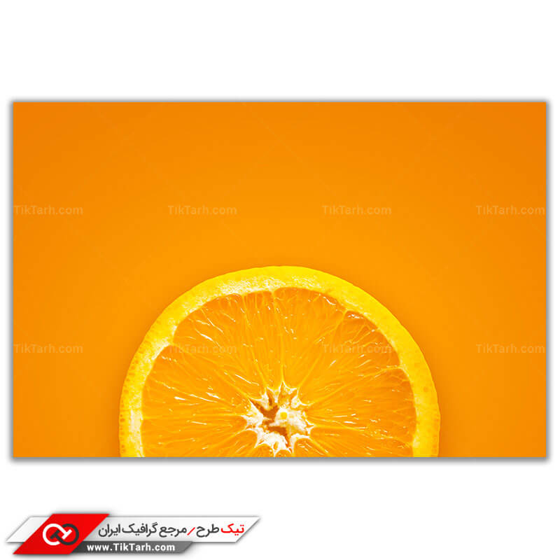عکس باکیفیت برش پرتقال