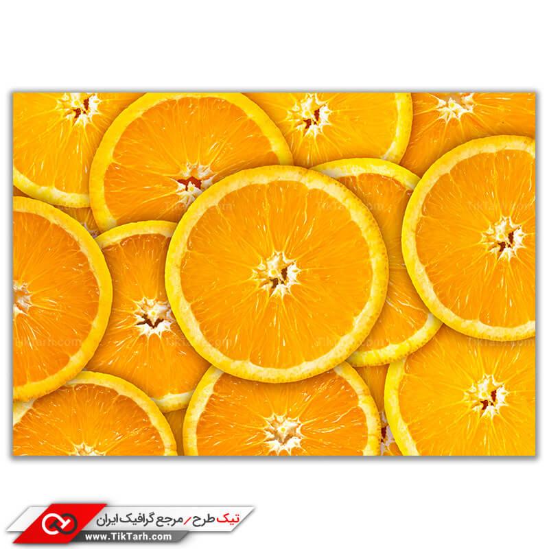 دانلودعکس باکیفیت از برش پرتقال