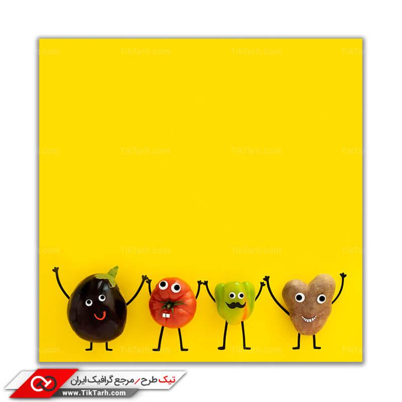 دانلود عکس باکیفیت آدمک های میوه ای