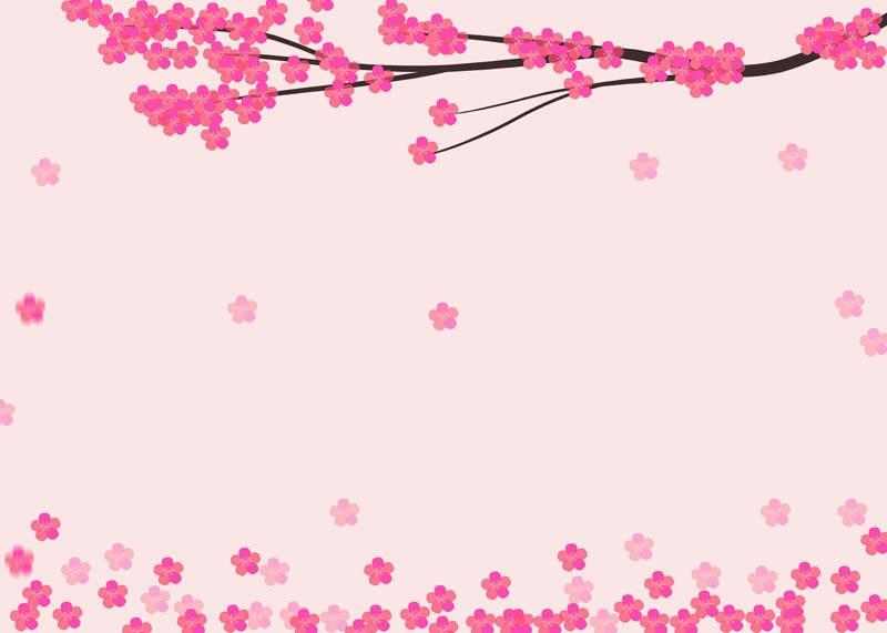 طرح لایه باز پس زمینه شکوفه های آلو