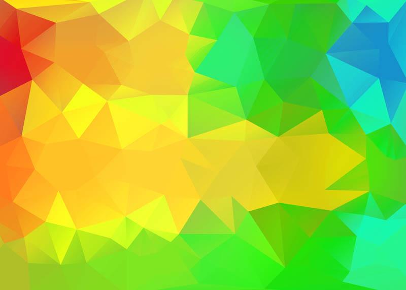 پس زمینه گرافیکی شیشه ای سبز و نارنجی