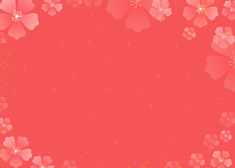 طرح لایه باز پس زمینه صورتی و شکوفه های ظریف