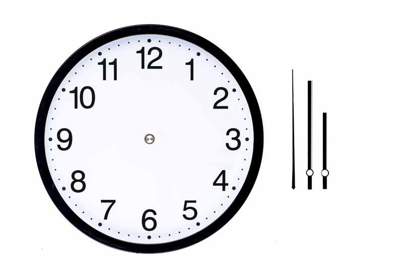 تصویر لارج فرمت ساعت دیواری و عقربه های ساعت