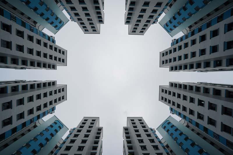 عکس باکیفیت آپارتمان ها از نمای پایین