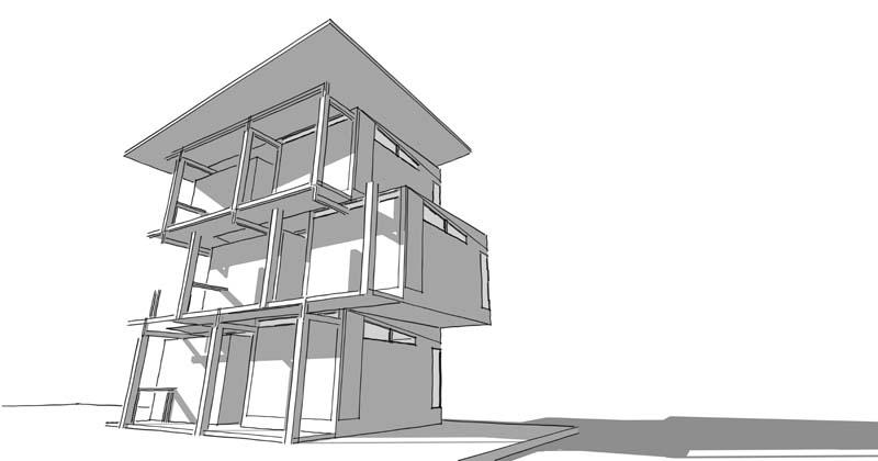 دانلود عکس باکیفیت طرح نمای ساختمان