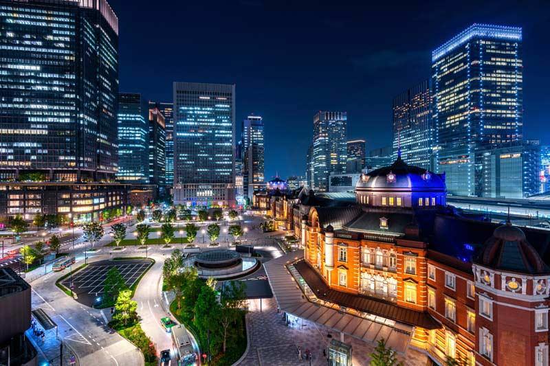 دانلود عکس باکیفیت نمای زیبا از شهر در شب