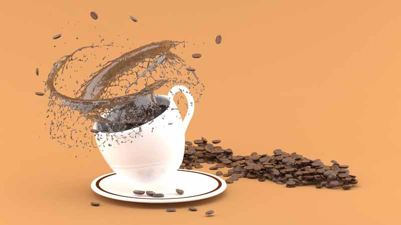 دانلود عکس باکیفیت سه بعدی قهوه