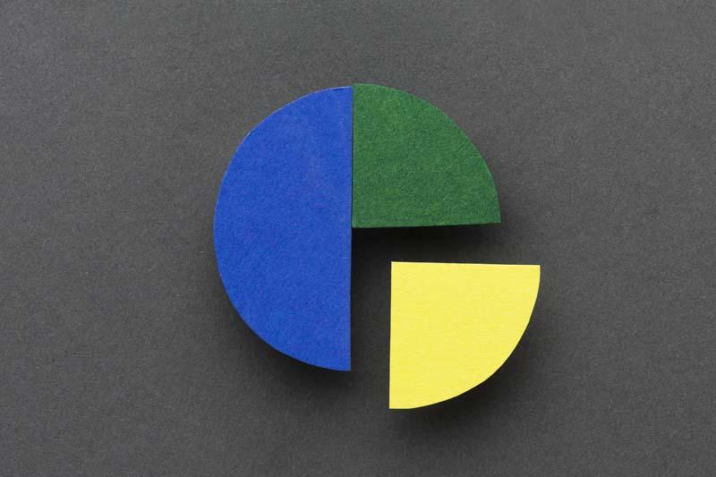 تصویر باکیفیت نمودار دایره ای