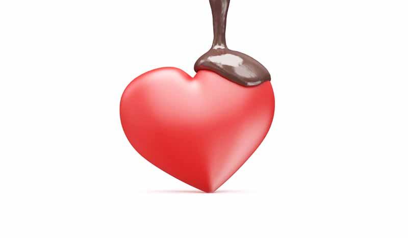 دانلود عکس باکیفیت سه بعدی قلب و شکلات