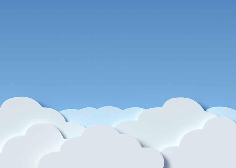 تصویر باکیفیت ابرهای کاغذی در آسمان