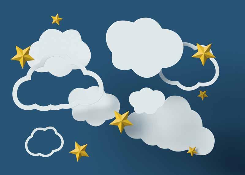 دانلود تصویر باکیفیت ابرهای کاغذی در آسمان