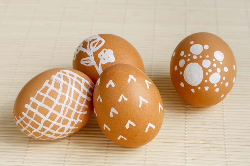 تصویر با کیفیت از تخم مرغ های تزئین شده