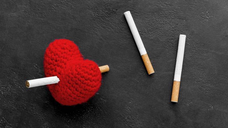 دانلود تصویر باکیفیت فانتزی سیگار و آسیب های قلبی