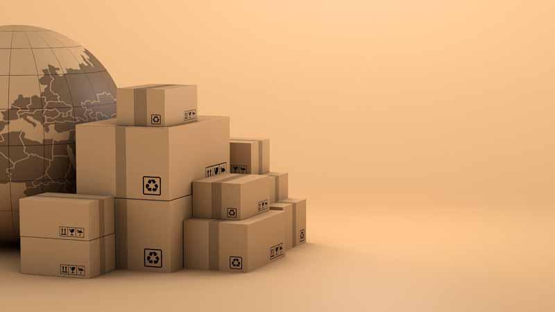 دانلود تصویر با کیفیت بسته های پستی فروشگاه اینترنتی