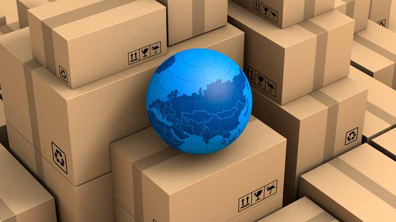 تصویر با کیفیت بسته های پستی فروشگاه اینترنتی