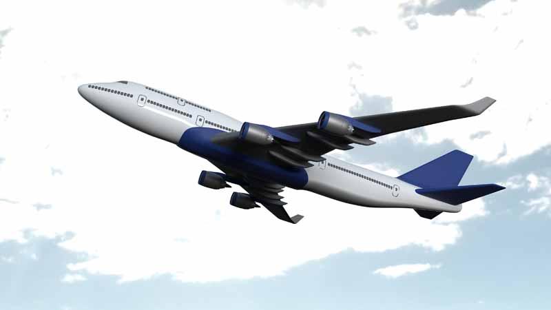 تصویر باکیفیت سه بعدی هواپیمای مسافربری