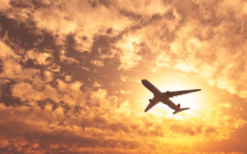 تصویر گرافیکی هواپیمای مسافربری