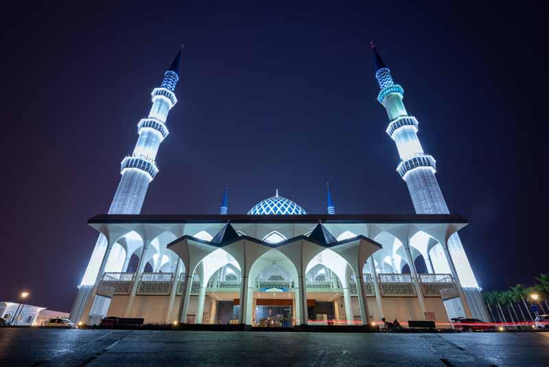 تصویر با کیفیت مسجد سلطان صلاح الدین مالزی