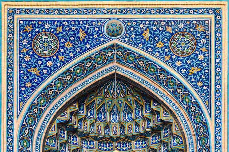 دانلود تصویر با کیفیت کاشی کاری مسجد جامع یزد