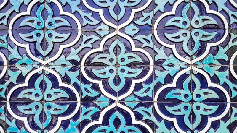 دانلود تصویر باکیفیت کاشی کاری مسجد ازبکستان