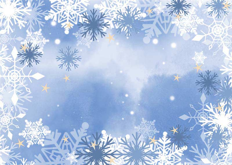 طرح لایه باز پس زمینه آبی و تم زمستانی