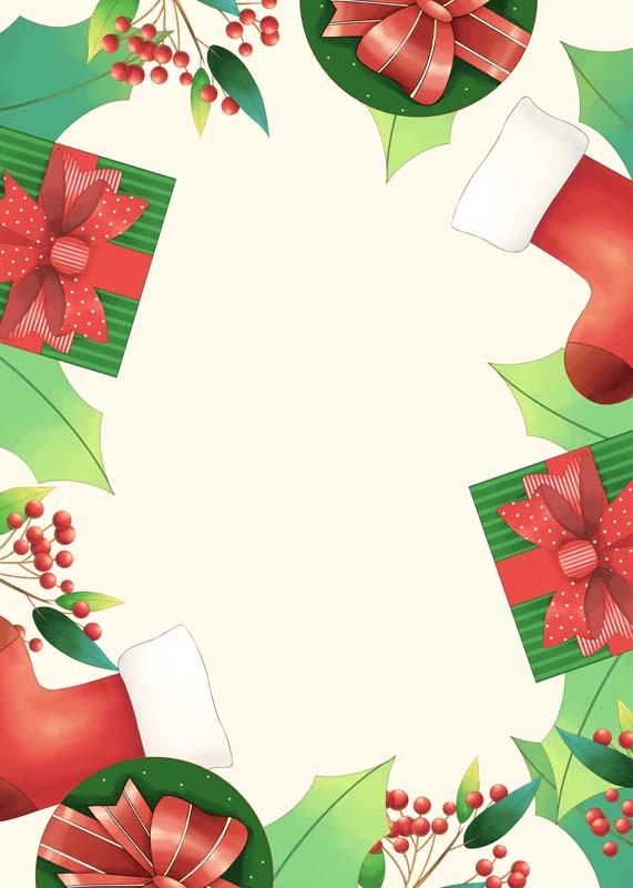 طرح لایه باز پس زمینه باکس کادوهای تم کریسمس