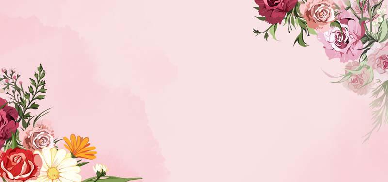 طرح لایه باز پس زمینه نقاشی با آبرنگ دسته گل زیبا