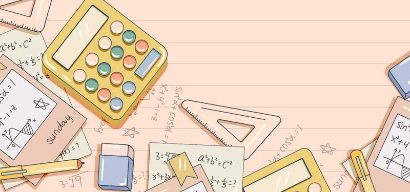 طرح لایه باز پس زمینه ماشین حساب و محاسبات ریاضی