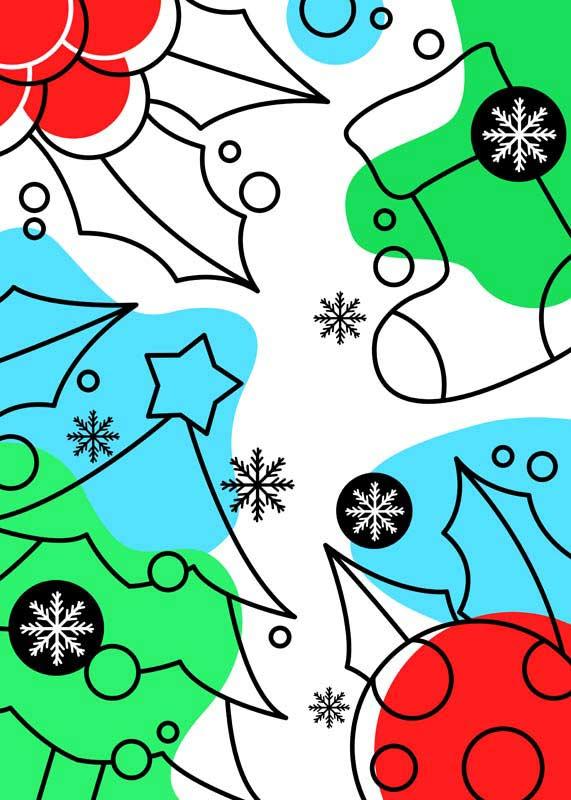 طرح لایه باز پس زمینه بابانوئل و کریسمس در زمستان
