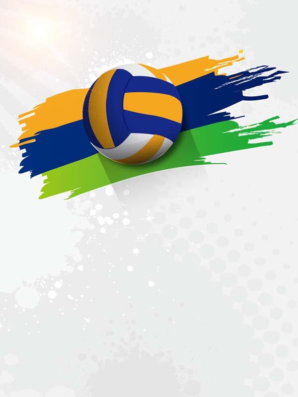 طرح لایه باز پس زمینه مسابقات والیبال