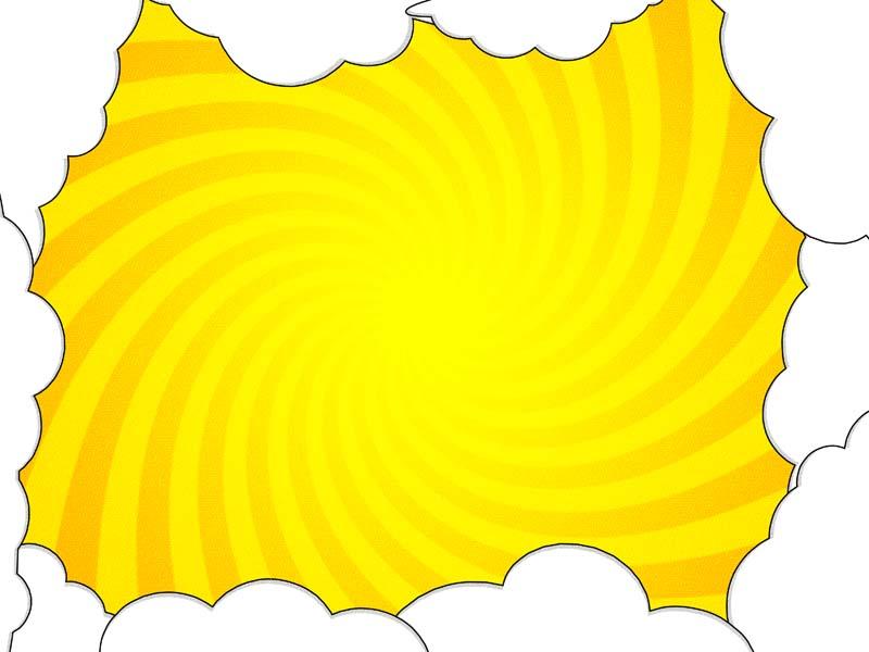 طرح لایه باز پس زمینه ابرهای سفید و زمینه نارنجی