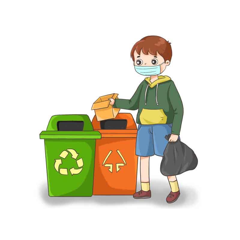 طرح کلیپ آرت تفکیک زباله