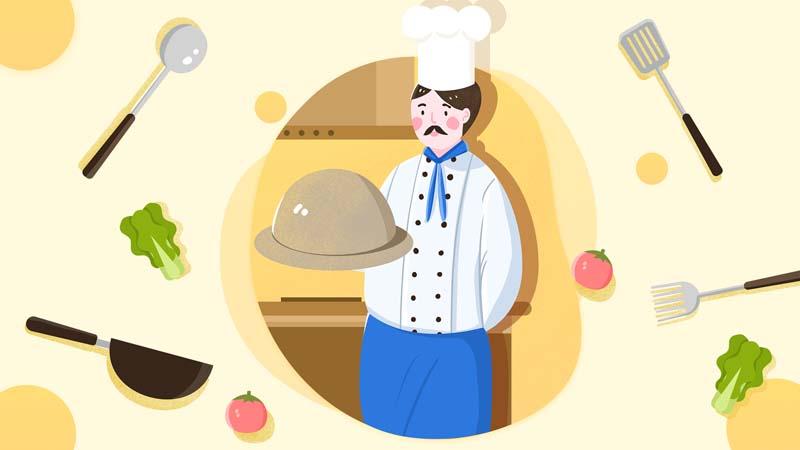 وکتور مفهومی لایه باز با طرح سرآشپز