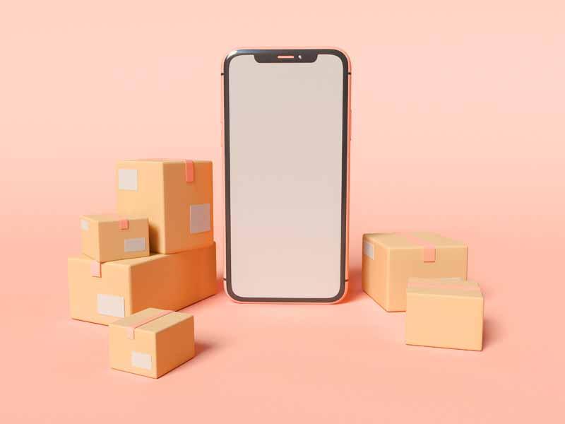 دانلود عکس سه بعدی خرید اینترنتی با موبایل