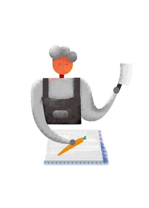 طرح کلیپ آرت خرد کردن هویج
