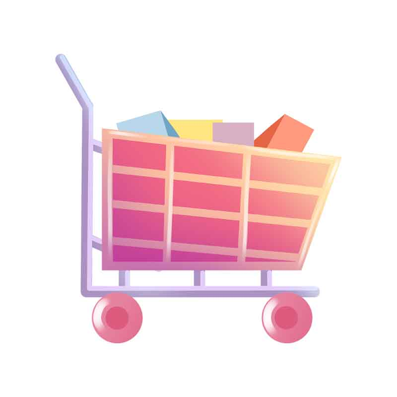 دانلود طرح کلیپ آرت سبد خرید در فروشگاه