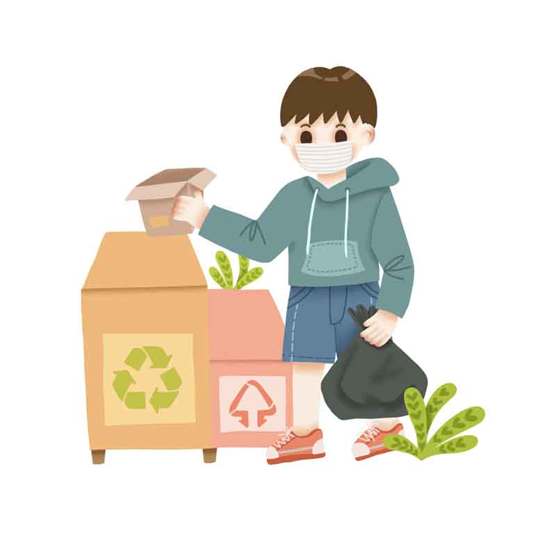 طرح کلیپ آرت بازیافت زباله